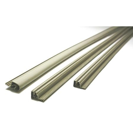 Steel Door Weatherstrip, Magnetic, Beige