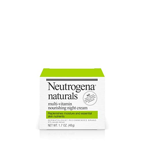 Neutrogena Naturals Multi-Vitamin Moisturizing & Nourishing Night Face Cream with Antioxidant Bionutrients & Vitamins B, C & E, Non-Comedogenic & Sulfate-, Paraben-, Phthalate- & Dye-Free, 1.7 oz