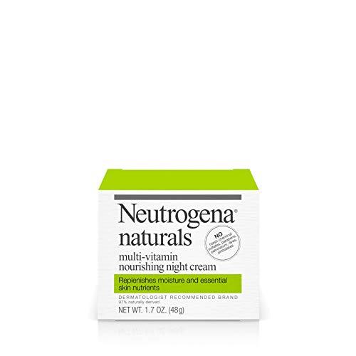 Neutrogena Naturals Multi-Vitamin Moisturizing & Nourishing Night Face Cream with Antioxidant Bionutrients & Vitamins B, C & E, Non-Comedogenic & Sulfate-, Paraben-, Phthalate- & Dye-Free, 1.7 oz (Cream Night Retinol Neutrogena)