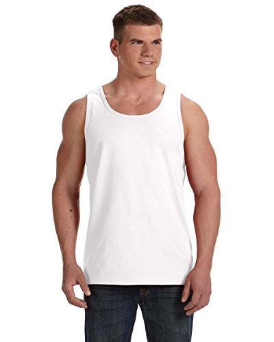 Hd Tank - Fruit of the Loom Adult 5 oz HD Cotton Tank - WHITE - L - (Style # 39TKR - Original Label)
