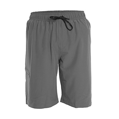 Gray Hybrid (Men's Boardshorts - S - Gray - Perfect Swimsuit, Swim Trunks, Board Shorts, Workout or Athletic Shorts For The Beach, Lifting, Running, Surfing, Pool, Gym. For Adults, Men's Boys)