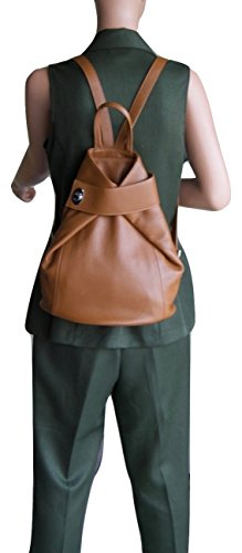 Leather Italian Purse LaGaksta Bag and Backpack Taupe Stella Shoulder CEpv5q