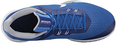 Zapatillas De Baloncesto Nike Hombres Zoom Evidence Game Royal / White / Wolf Gray