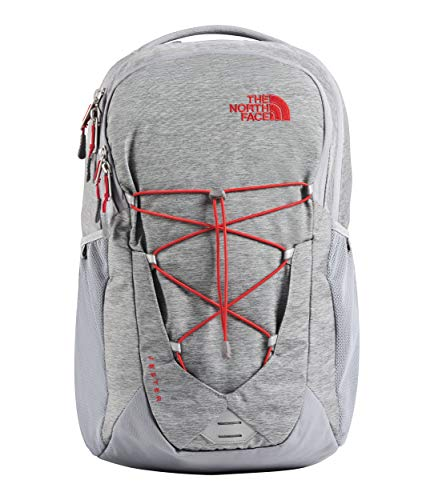 (The North Face Jester, Mid Grey Dark Heather/Fiery Red,)