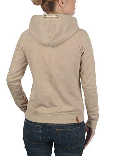 Mandy Desires Sudadera Melange Taupe Con Capucha Para Jersey Simple Mujer Corta 0162m Chaqueta dBHqnxPB