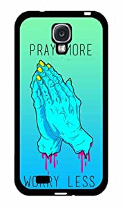 Neon Pray More Worry Less-2-Piece Dual Layer Phone Case Back Cover Samsung Galaxy S4 I9500
