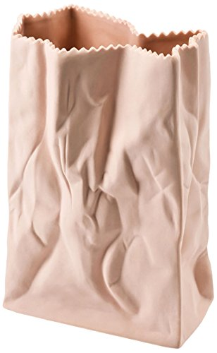 Bag Flower Vase Peach 8''