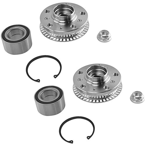 Front Wheel Bearing & Hub Kit LH & RH Side Kit Pair Set for Volkswagen Jetta Beetle Golf Passat (Kit Bearing Wheel Vw)