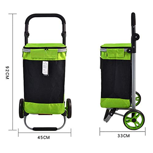 88d04fbc8234 YAXuan 2-Wheel Collapsible Foldable Shopping Trolley, Portable Shopping  Grocery Cart Trolley,Shopper Luggage Cart,D