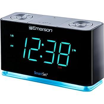 emerson er100301 smartset alarm clock radio with bluetooth speaker charging station. Black Bedroom Furniture Sets. Home Design Ideas
