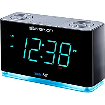 Amazon.com: Emerson ER100301 SmartSet Alarm Clock Radio