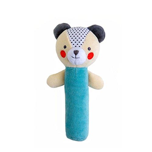 Petit Collage Organic Baby Squeaker, Bear