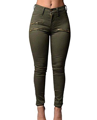 Slim Casual Matita Pantaloni Classiche Pantaloni Con Donna Fit Alta Solidi Armeegr Hose Vita Base Elegante Pants Donna Tempo A Cerniera Pantaloni Moda Donne Colori Bleistift Libero Unique qTv6wT18