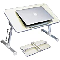 Avantree Quality Adjustable Laptop Table, Portable Standing Bed Desk, Foldable Sofa Breakfast Tray, Notebook Stand...