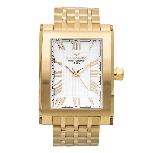 Aquaswiss 64GS009 Tanc Gold Color Case Gold Tone Metal Band ()