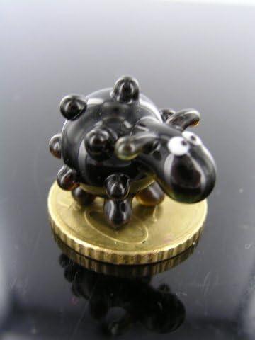 Figura de oveja peque/ña de cristal 3 Figura de oveja negra en miniatura Figura de cristal de oveja negra