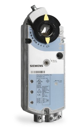 Siemens GCA221.1U Spring Return Electric Damper Actuator, 2-Position, 120 Vac, Standard Cabling (Spring Return Actuator)