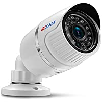 Full HD 1080P PoE Security IP Camera, 3.6mm Lens Surveillance Outdoor Cameras POE/Waterproof/Motion Detection/Email FTP Alert Night Vision Cameras