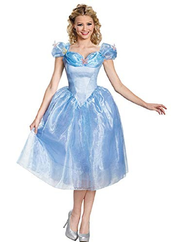 Disney Disguise Women's Cinderella Movie Adult Deluxe Costume, Blue, Large