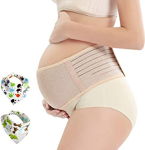 Pregnancy Belt, Maternity Belly Support Band, Breathable Pelvic and Back Support Brace, Relieve Hip, Pelvic, Lumbar and Lower Back Pain, Comfortable Prenatal Cradle for Baby, Adjustable Size