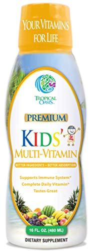 Premium Kids Liquid Multivitamin & Superfood -100% DV of 14 Vitamins for Kids. Multi-Vitamin for Children Ages 4+. Great…