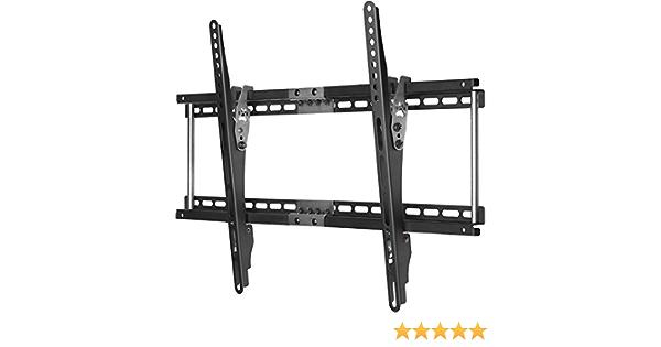 Ultra-Slim Black Adjustable Tilt//Tilting Wall Mount Bracket for Panasonic Viera TC-P60ST60 60 inch Plasma HDTV TV//Television Low Profile