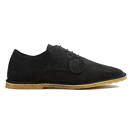 Pretty Green Zapatos de Cordones de Ante Para Hombre Negro Negro 300x420mm