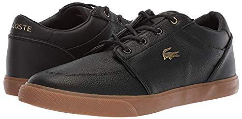 Lacoste Men's Bayliss Sneaker, Black/Gum, 12 Medium US