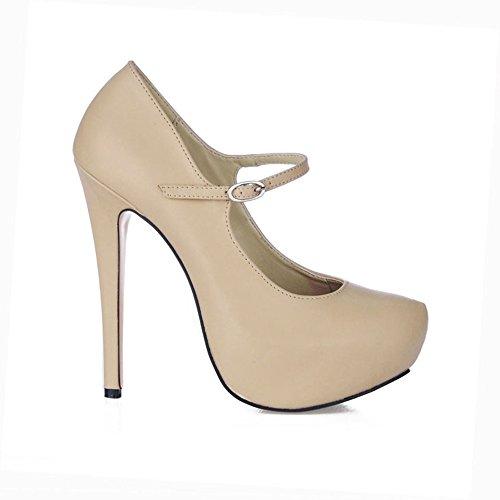 Y Fine Mayor Resorte Alto Pu Escritorio Temperamento Agua Aumento Skin Zapatos Discotecas De Color Tone Talón Para Sexy La El t6xzdp6