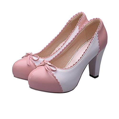 (Charm Foot Women's Spirng High Heel Pumps Dress Shoes (9, Pink) )