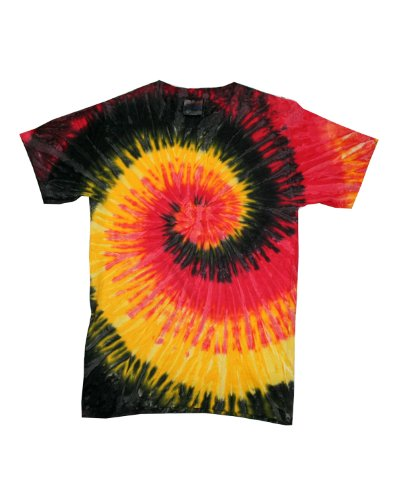 picture of tie dye Adult Tie-Dyed Cotton Tee - Kingston Spiral - S