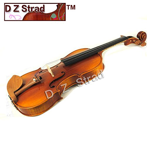D Z Strad Model 220 Violin 4/4 Full Size with Case, Bow, Rosin, and shoulder rest with Open Clear Tone by D Z Strad