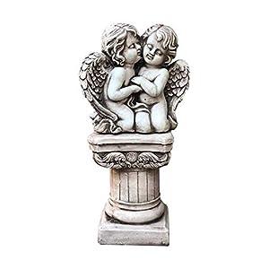 Garden Sculptures & Statue Gardening Roman Column Angel Decoration Garden Decor Statue, Polyresin, Antique Stone