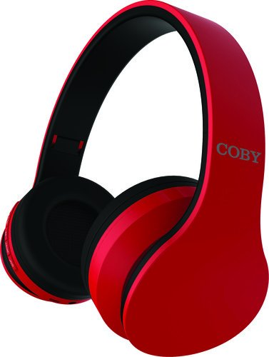 Coby Ovation Wireless Headphones w/Mic - Red