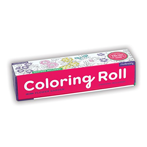 Mudpuppy Flower Garden Coloring Roll