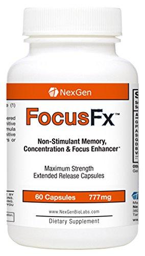 Concentrez-Fx - Supplément non-stimulant puissant cerveau pour soutenir la fonction de cerveau, la mémoire, l'attention, et la concentration