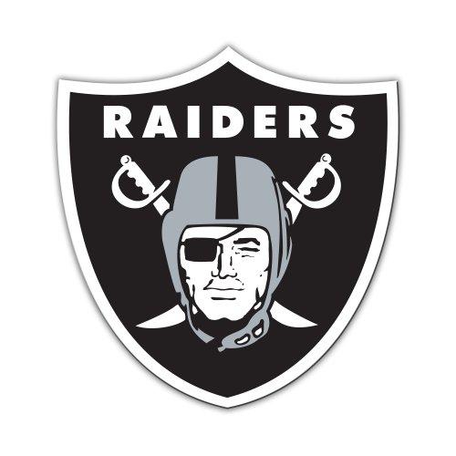 NFL Oakland Raiders 12-Inch Vinyl Logo (12 Logo Car Magnet)