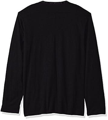 Calvin Klein Men's Long Sleeve Woven Collar Henley