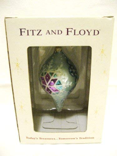 Fitz and Floyd Crystal Winter Teal Teardrop Glass ()