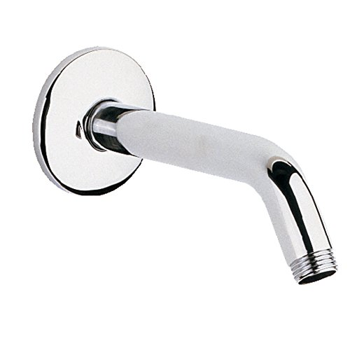 """70%OFF Grohe 27 414 5.625"""" Shower Arm with Flange and 1/2"""" Threaded Connection, Starlight Chrome"""