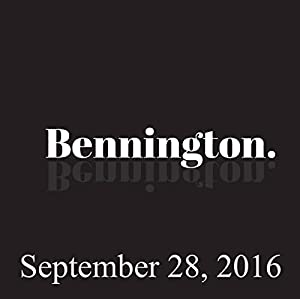 Bennington, September 28, 2016 Radio/TV Program