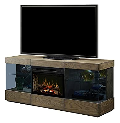 DIMPLEX Electric Fireplace, TV Stand, Media Console, Space Heater and Entertainment Center with Natural Log Set in Raked Sand Finish - Axel #GDS25LD-1583RS