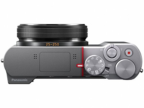 PANASONIC LUMIX ZS100 4K Point and Shoot Camera, 10X LEICA DC Vario-ELMARIT F2.8-5.9 Lens with Hybrid O.I.S., 20.1 Megapixels, 1 Inch High Sensitivity Sensor, 3 Inch LCD, DMC-ZS100S (USA SILVER)