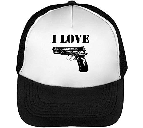 I Guns Gorras Hombre Snapback Beisbol Negro Blanco