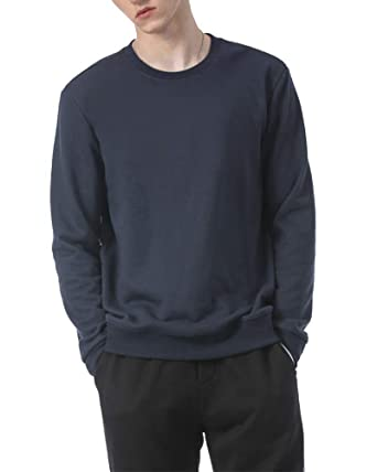 Sudadera Cuello Redondo Suelto para Hombre Manga Larga Sweaters ...