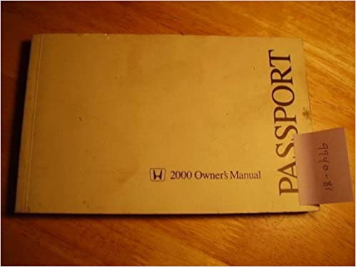 2000 Honda Passport Owners Manual Honda Amazon Com Books