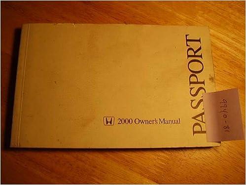 2000 Honda Passport Owners Manual Honda Amazon Com Books
