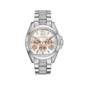 Michael Kors Access Unisex 45mm Silvertone Bradshaw Chronograph Smart Watch