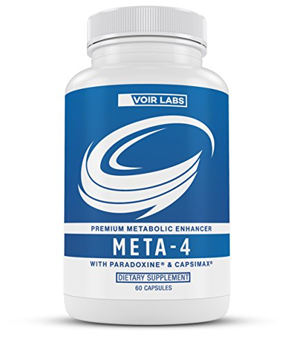 Voir Labs Meta-4 - Premium Metabolic Enhancer with Paradoxine, Capsimax, and Green Tea Extract - Thermogenic Fat Burner Weight Loss Supplement - 60 Natural Veggie Pills