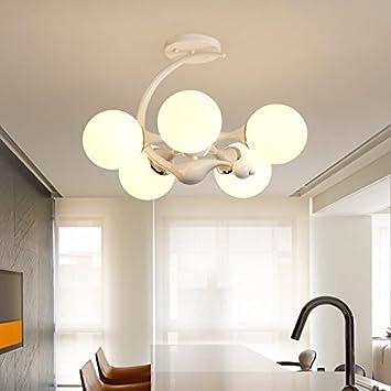 YAYONG Moderna lámpara Minimalista araña de Techo de Hierro ...